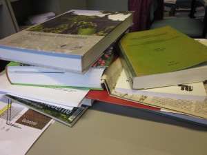 This is just a small sample of books I need to use for my research. They are all written in German!