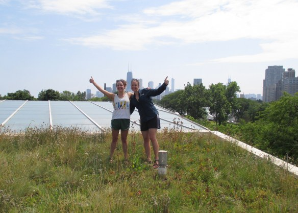 Monica and I celebrate her last day of data collection as an intern for the REU program. It was a great summer!